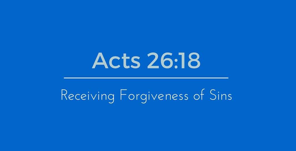 Receiving Forgiveness of Sins